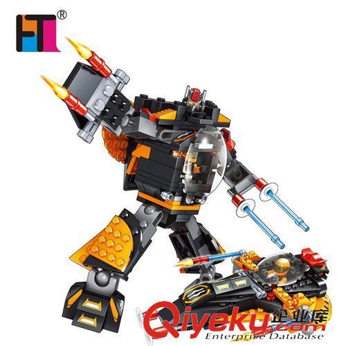 正品巧乐童 变形机器人拼装拼插积木益智