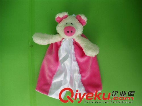 【婴儿安抚巾、口水巾 、吸汗巾 外贸小猪猪安