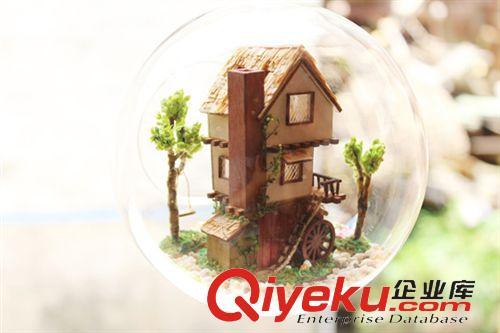 玻璃球小屋 手工创意礼物 智趣屋玻璃球 diy小屋 迷你岛屿森林梦 情人