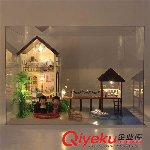 新品上市 a027马尔代夫 diy手工别墅模型 多场景小屋创意心意礼物