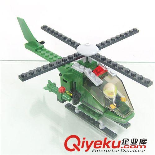乐高类积木 903儿童启蒙积木益智拼装玩具直升飞机 小