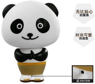 台灯夜灯 奇玩 功夫熊猫灯语音控制台灯 创意智能声控