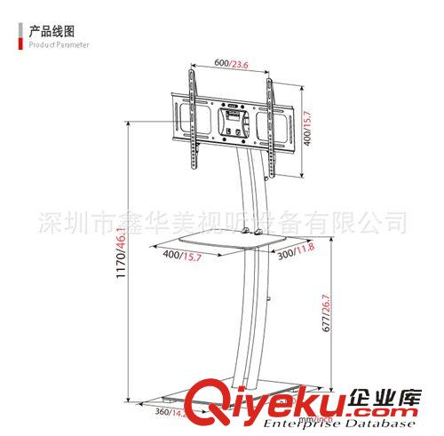 电视机移动支架系列 弓型落地式电视机支架
