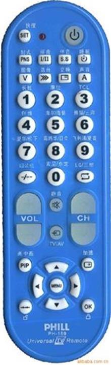 电视机遥控器(单一型号) PHILL{wn}系列遥控器