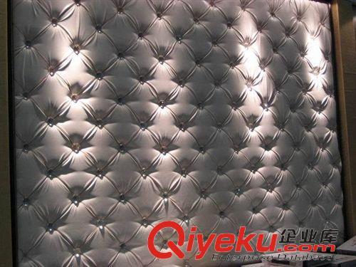 欧式叠扣软包电视机卧室床头背景墙软包硬包定做皮革