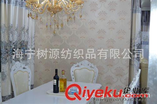 无缝墙布壁布 欧式墙布 豪华 奢华 刺绣 大马士革花(图)
