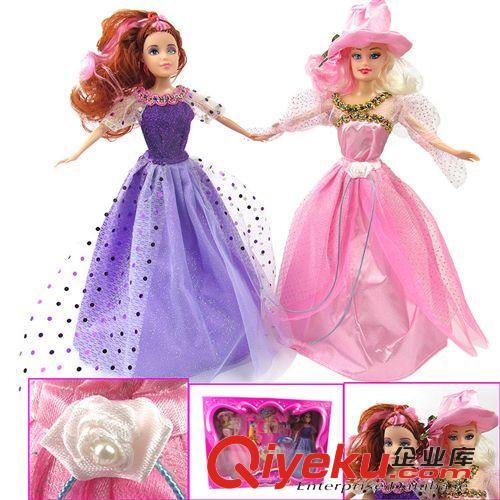 公主娃娃套装盒装批发女孩最爱漂亮又可爱芭比娃娃0
