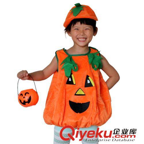 万圣节儿童服装化妆舞会儿童演出服装衣服南瓜帽南瓜