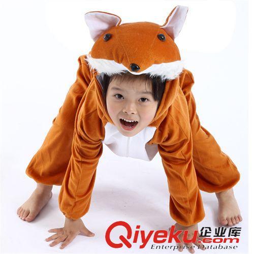儿童动物玩偶服 儿童表演服装 演出服装 卡通 动物套装 动物衣服狐狸