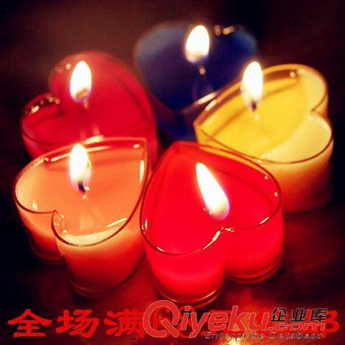 蜡烛 七夕表白浪漫 心形蜡烛 求婚烛光 晚餐 表白