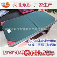 爆款推荐 河北厂家生产 小体操体育垫子 120*60*5CM手提折叠体操垫