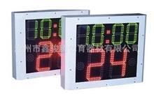 体育电子记分牌 双面24秒倒计时12分24分计时器,高亮度户外使用,有线无线可选