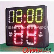 体育电子记分牌 单面24秒倒计时12分24分计时器,高亮度户外使用,有线无线可选