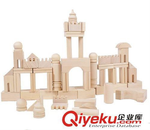 积木类/叠叠乐/ 小额混批发带数据包 森林古堡积木 木质玩具 yx222