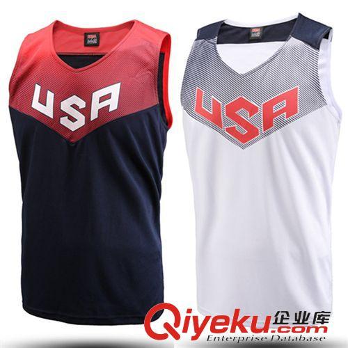 梦十一美国国家队白篮球服套装训练服比赛服篮球衣球服队服印号原图
