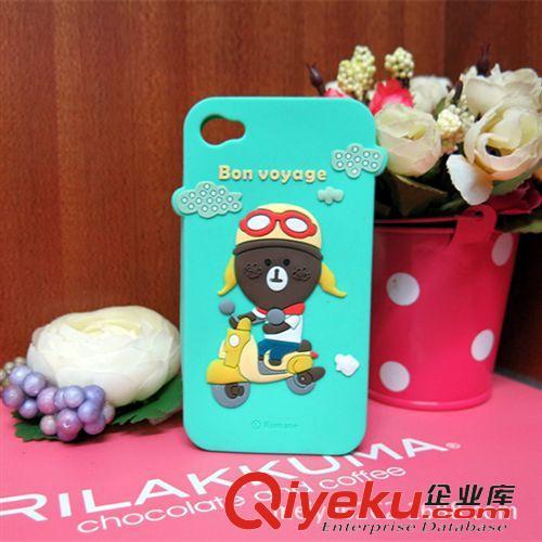 手机套 罗马尼系列bon voyage摩托车小熊iphone5s/5c手机套