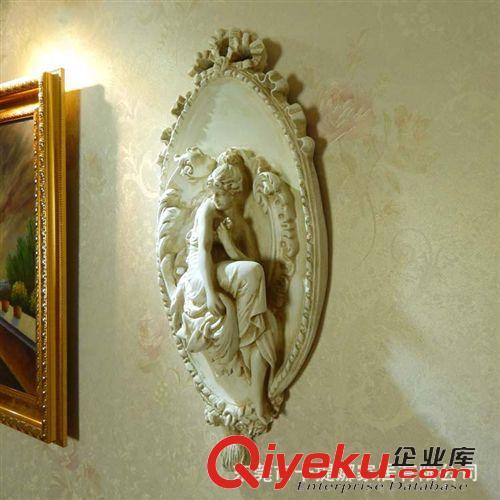 欧式浮雕墙面走廊人物