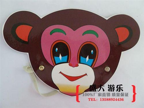 幼儿园头饰面具手偶 小熊 纸质动物表演头饰/儿童卡通