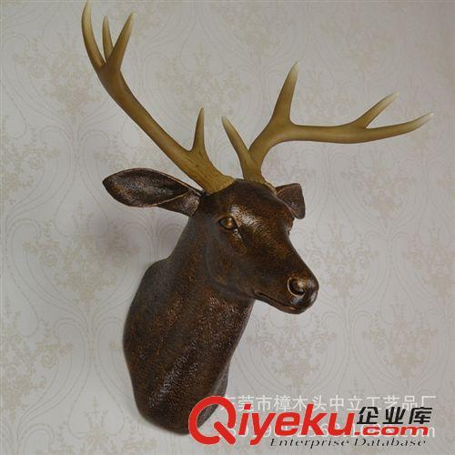 amt3001-3100 特价仿古铜鹿头壁挂 酒店装饰挂件 欧式
