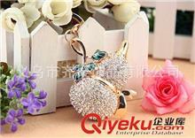 钥匙扣系列 韩国流行镶钻葫芦钥匙扣 个性水晶包包汽车挂扣批发 款式新颖