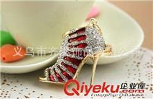 钥匙扣系列 时尚韩式潮流钥匙扣 创意水晶高跟鞋钥匙扣 钥匙包包扣小配饰批发