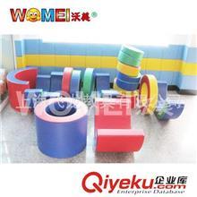 感统训练组合系列 软体彩虹接龙钻圈圈儿童彩色安全大型室内软垫玩具幼儿教具