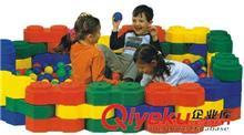 桌面益智玩系列 八角造景大积木 儿童塑料拼搭大积木 可拼球池幼儿椅 幼儿园早教