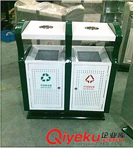 大型分类垃圾箱 金属烤漆户外垃圾桶