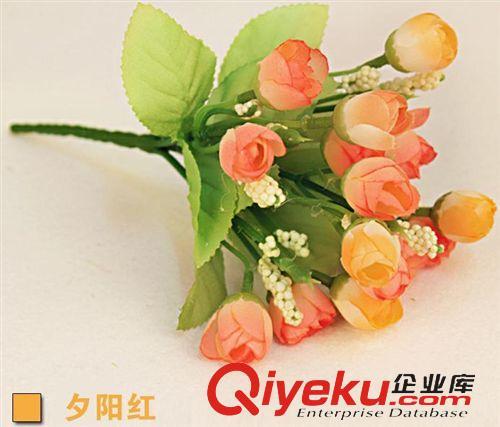 仿真玫瑰花假花绢花蕾欧式花单只装饰品