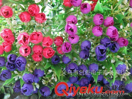 仿真玫瑰花苞蕾迷你小圣诞各色花束欧式盆栽图片