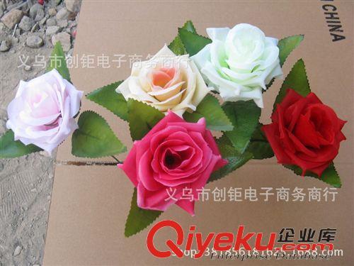 花朵/花球 高档仿真玫瑰花单支花束创意diy红玫瑰紫玫瑰香槟装饰插