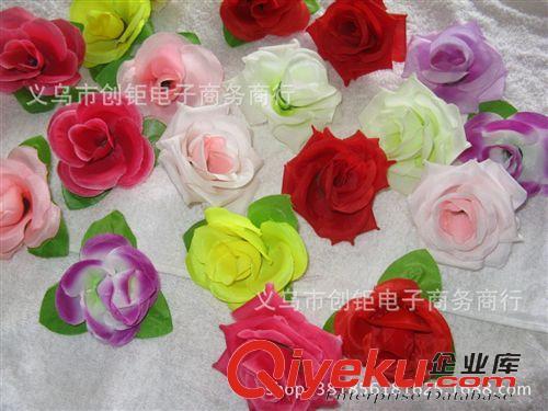 【花朵/花球 仿真花球花朵丝布花头插花柱墙造型设计