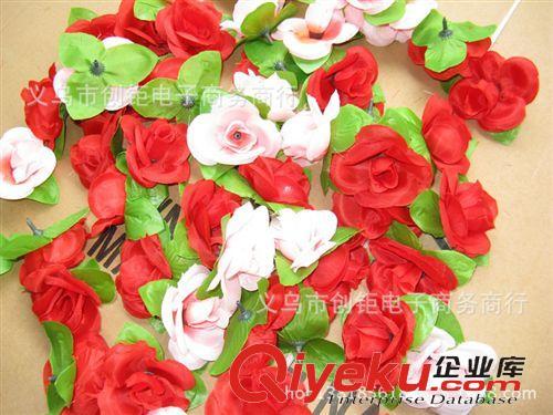 花朵/花球 仿真花球花朵丝布花头插花柱墙造型设计婚房布置单支玫瑰