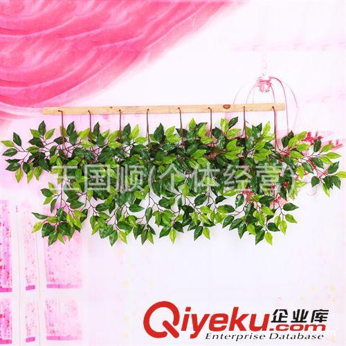 仿真植物 厂家直销仿真树叶批发 假树叶绢布榕树叶装饰 仿真绿色榕树