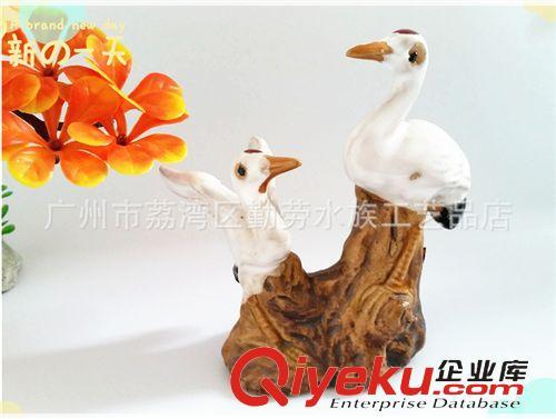 陶瓷工艺品 广东假山园艺人物动物摆件