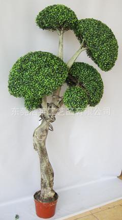 仿真绿植 创意米兰球树仿真盆栽~异形仿真树