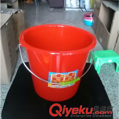 塑料制品 桶红双喜桶 塑料大红水桶 洗衣桶 水桶 10元店货源日用百货