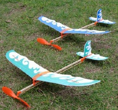 diy飞机橡皮筋动力雷鸟