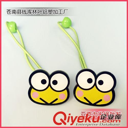 2015/04/30上新 头饰品批发 小学生发绳 卡通可爱 绿青蛙 外贸发绳