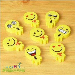 文具2011最新款 可爱笑脸 表情 小人 橡皮擦 学生奖品