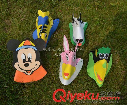 创意玩具 eva动物立体帽 儿童表演道具小动物帽子幼儿园活动头饰 批发