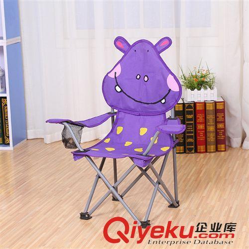 户外用品 卡通动物折叠椅子 儿童便携靠背椅 户外家用懒人椅 宝宝吃饭