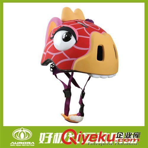 骑行头盔 儿童3d卡通头盔轮滑滑板溜冰滑旱冰自行车头盔安全帽厂家