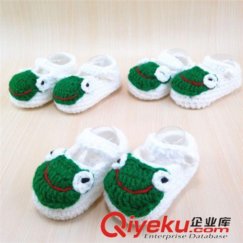 儿童鞋子 手工编织新款卡通大嘴步前鞋 婴儿纯棉毛线鞋 手工宝宝鞋
