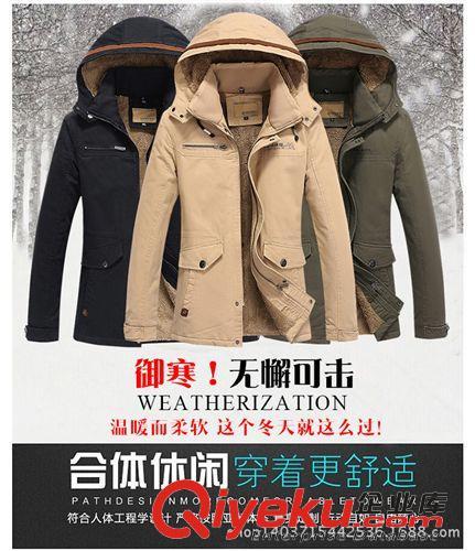潮流前线 时尚修身男式加厚保暖户外风衣 舒适中长款男士风衣外套