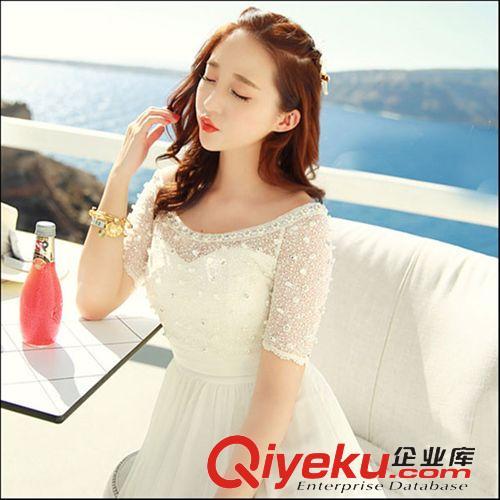 3月新款 韩国东大门女装雪纺连衣裙波西米亚长裙显瘦度假沙滩长裙女