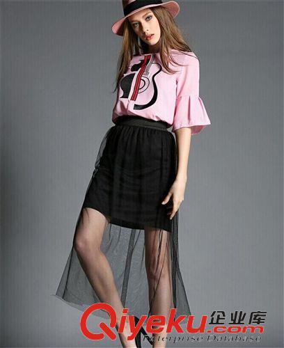 连衣裙 2015欧洲站女装新款欧美大牌风黑色网纱长裙两件套连衣裙套装