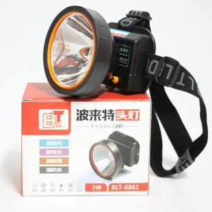 头灯 波来特锂电池头灯blt-8882 3瓦 质量保证防水头灯图片