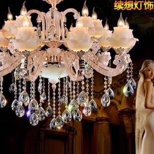 锌合金蜡烛灯系列 高档欧式简约水晶吊灯
