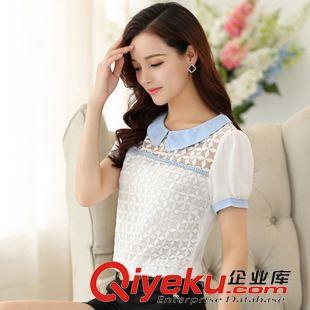 蕾丝短袖t恤女韩版
